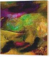 Colorful Burlap Wood Print