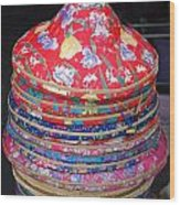 Colorful Chinese Farmer Hats Wood Print