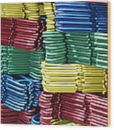 Colorful Clothes Hangers Wood Print by Skip Nall