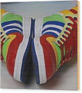 Colorful Clown Shoes Wood Print