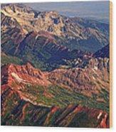 Colorful Colorado Rocky Mountains Planet Art Wood Print