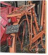 Colorful Dutch Bikes Wood Print
