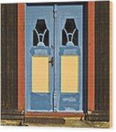 Colorful Entrance Wood Print