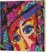 Colorful Expression 19 Wood Print
