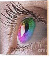 Colorful Eye Wood Print