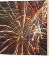 Colorful Fireworks Wood Print