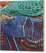 Colorful Fishing Nets 2 Wood Print