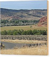 Colorful Hills Of Wyoming Wood Print