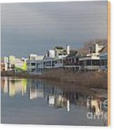 Colorful Homes On The Water Wood Print
