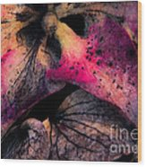 Colorful Hydrangea Abstract. Wood Print