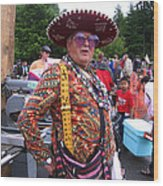 Colorful Man Of The Festival Wood Print