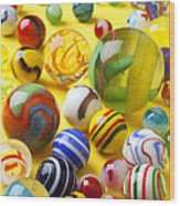 Colorful Marbles Two Wood Print
