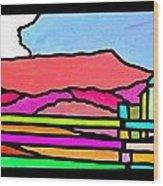 Colorful Massanutten Peak Wood Print