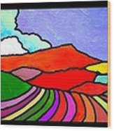 Colorful Massanutten Peak Two Wood Print
