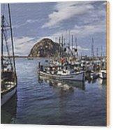 Colorful Morro Harbor Wood Print