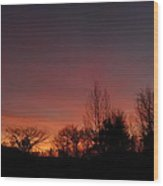 Colorful November Dawn Wood Print