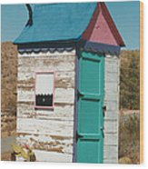Colorful Outhouse Wood Print