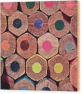 Colorful Painting Pencils Wood Print