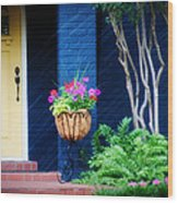 Colorful Porch Wood Print