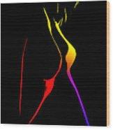 Colorful Shapes Wood Print
