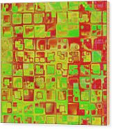 Colorful Squares II Wood Print