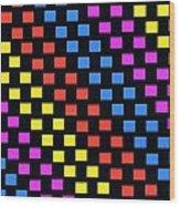 Colorful Squares Wood Print