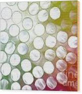 Colorful Straws Wood Print