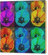 Colorful Tulip Collage Wood Print by James BO  Insogna