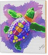 Colorful Turtle Wood Print