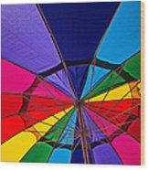 Colorful Umbrella Wood Print