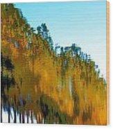 Colorful Water Wood Print