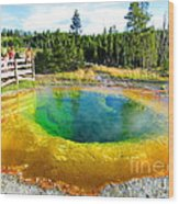 Colorful Yellowstone Wood Print