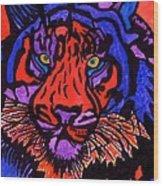 Colorfull Tiger Wood Print