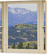 Colorful Rocky Mountain Autumn Picture Window View Wood Print