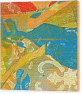 Colors Wood Print by Alexandra Sheldon