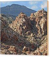 Colors In The Desert Wood Print