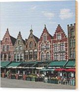 Colors Of Brugge Wood Print