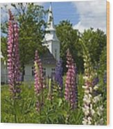 Colors Of Church Wood Print by Jim McDonald