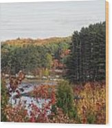 colors of fall in New England Wood Print