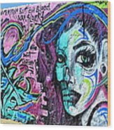 Colors Of Graffiti Wood Print