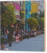 Colors Of Istanbul Street Life Wood Print