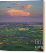 Colors Of The Palouse Wood Print