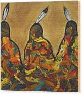 Colors Of Three Wood Print