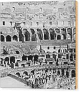 Colosseum In Rome Itlay - Interior - C 1904 Wood Print