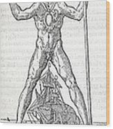 Colossus Of Rhodes, 16th Century Artwork Wood Print