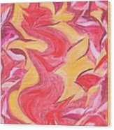 Colour Me Pink Yellow 'n Red Wood Print