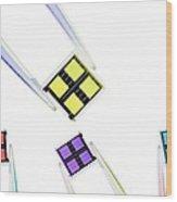Coloured Microchips Wood Print