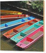Colourful Punts Wood Print