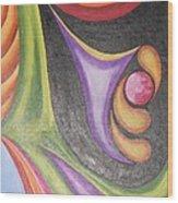 Colourful Wind Wood Print