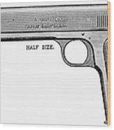 Colt Automatic Pistol Wood Print